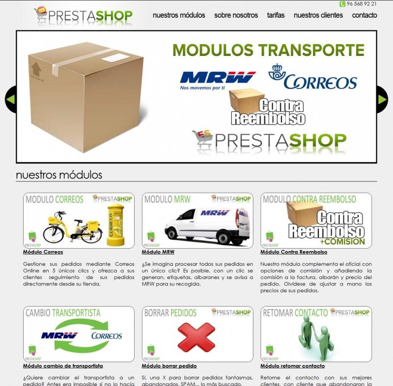 captura portada modulo mrw e1329308854251 EsPrestaShop y los módulo para PrestaShop de MRW y Correos